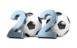 Football 2020. 3d Illustrations Stock Photos