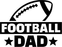 Football dad. Father sports vector Stock Images