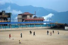 Football in Darjeeling. Royalty Free Stock Photography