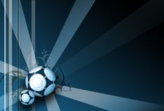 Football dark blue elegance background. With rays and ornaments Stock Images