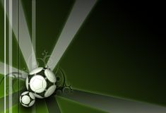 Football dark green elegance background. With rays and ornaments Stock Photos