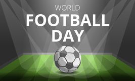 Football day concept background, cartoon style vector illustration
