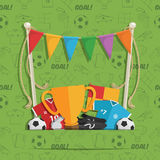 Football decoration background Stock Images