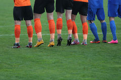 Football defensive wall Royalty Free Stock Images