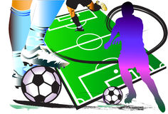 Football design and action Royalty Free Stock Photo