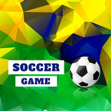 Football design background. Vector football design art background Royalty Free Stock Image
