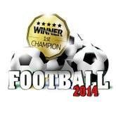 Football Design. Football Creative Sports Illustration Symbol Design Stock Photography