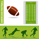 Football design elements. American football design elements vector Stock Image