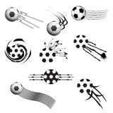 Football design elements. Set of football logo design elements for your projects Stock Image