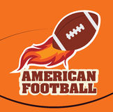 Football design. Over orange background, vector illustration Stock Photography
