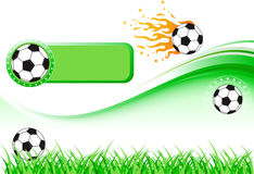 Football Design Set. High details illustration of football and turf Royalty Free Stock Photo