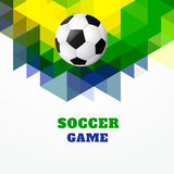 Football design. Vector football design art background Stock Photography