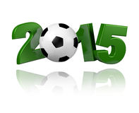Football 2015 design. With a white background Stock Photography
