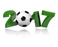 Football 2017 design Royalty Free Stock Images