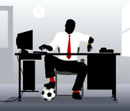 Football desk Stock Image