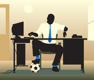 Football desk Royalty Free Stock Images