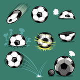 Football. Difference actions of the ball Royalty Free Stock Photo