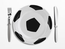 Football dish Royalty Free Stock Images
