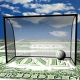 Football, dollar ball in collars Stock Photos
