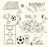 Football Doodle stock illustration