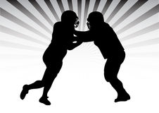 Free Football Duel Royalty Free Stock Photos - 9819848