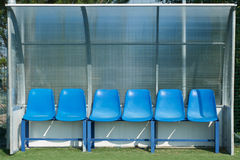 Football dugout Royalty Free Stock Photos