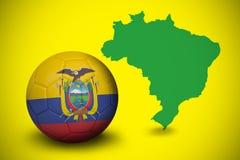 Football in ecuador colours Royalty Free Stock Photos
