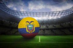Football in ecuador colours Stock Image