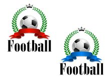 Football emblem or label Royalty Free Stock Image