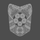 Football emblem monocrome Stock Image