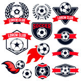 Football  emblems set. Stock Photography