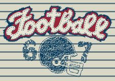Football embroidery. Vector illustration of an embroidery and print design about football Royalty Free Stock Image