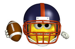 Football Emoticon - With Clipping Path Stock Photo