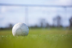Football on an empty pitch Royalty Free Stock Images