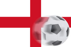 Football on England flag Royalty Free Stock Image