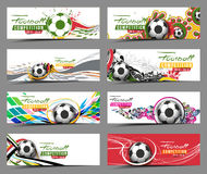 Football Event Banner Header Stock Photo