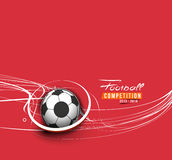 Football Event Poster Graphic Royalty Free Stock Photos