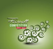 Football Event Poster Graphic Royalty Free Stock Photo