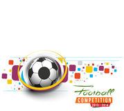 Football Event Poster Graphic Stock Images