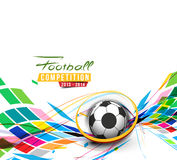 Football Event Poster Graphic Royalty Free Stock Images