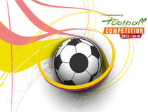 Football Event Poster Graphic Stock Photo