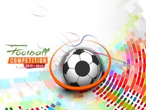 Football Event Poster Graphic Stock Photography