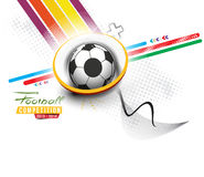 Football Event Poster Graphic Stock Image