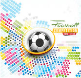 Football Event Poster Graphic Royalty Free Stock Image