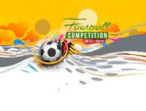 Football Event Poster Graphic Template Royalty Free Stock Image