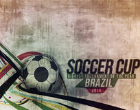 Football Event Poster Graphic Template Royalty Free Stock Photography