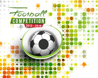 Football Event Poster Graphic Template Stock Images