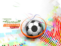 Football Event Poster Royalty Free Stock Photo
