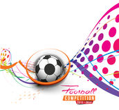 Football Event Poster Royalty Free Stock Image