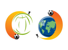 Football excitement in World Cup 2010. Illustrations depicting the excitement of Football World Cup 2010 due to take place in South Africa Stock Images